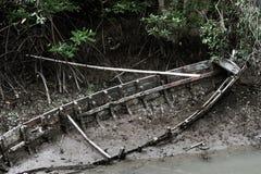 La barca, quella ha smesso è utilizzabile Immagine Stock