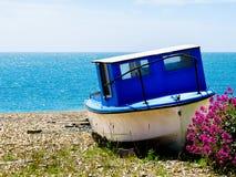 La barca sulla costa di mare Fotografia Stock Libera da Diritti