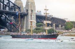 La barca a vela antica mostra negli eventi del porto e di Ferrython il giorno dell'Australia a Sydney Harbour Immagini Stock Libere da Diritti