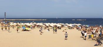 La Barceloneta Beach Royalty Free Stock Image