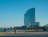 At La Barceloneta district, on March 15, 2013 in Barcelona, Spain Stock Photos