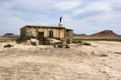 La Bardena dos dans de Cabane Foto de Stock Royalty Free