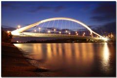 La Barqueta桥梁 免版税库存照片