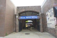 La barra del callejón de Blue Note Foto de archivo