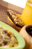 La barra del cereale con la decorazione Fotografie Stock