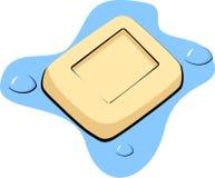 la barra del sapone con le bolle vector l'illustrazione illustrazione di stock
