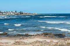 La Barra della spiaggia a Punta del Este, Uruguay Fotografie Stock Libere da Diritti