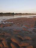La barra di sabbia nel Mekong immagini stock libere da diritti