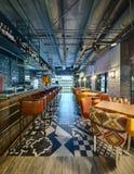 La barra messicana del ristorante Immagine Stock
