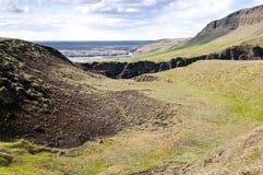 La barranca Fjadrargljufur, Islandia imagen de archivo