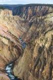La barranca magnífica de Yellowstone Imagen de archivo