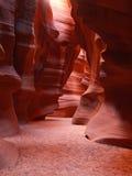 La barranca superior de la ranura del antílope cerca de la paginación en Arizona imagen de archivo