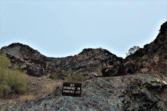 La barre de désert, Parker, Arizona, Etats-Unis Photos stock