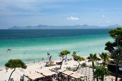 La barre et la plage de l'Iberostar Alcudia se garent dans Alcudia Photos libres de droits