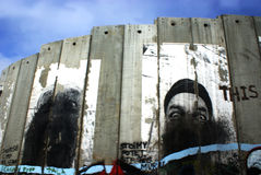 La barrera de Cisjordania imagen de archivo libre de regalías