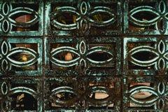 La barrière de la maison a été construite jusqu'au lichen image libre de droits