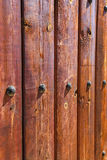 La barrière en bois détaille la forme de couleurs Image stock
