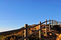 La barrière où la terre finit - cap Roca Photo stock