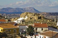 'La Barriada de Las Cuevas' in the north of the town Guadix Stock Images