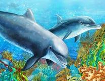La barriera corallina - illustrazione per i bambini royalty illustrazione gratis