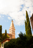 La basílica de Euphemia del santo, Rovinj Fotos de archivo
