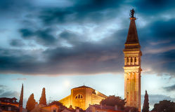 La basílica de Euphemia del santo, Rovinj Imagen de archivo