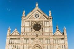 La basílica de la cruz santa en Florencia, Italia Fotografía de archivo libre de regalías