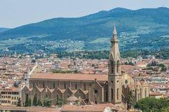 La basílica de la cruz santa en Florencia, Italia Imágenes de archivo libres de regalías