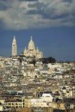 La basílica de Sacre-Coeur. París. Foto de archivo libre de regalías