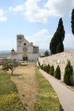 La basílica de St.Francis/Assisi Fotos de archivo