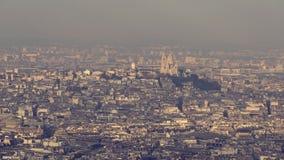 La basílica del corazón sagrado de París almacen de video