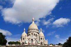 La basílica del corazón sagrado de París Imagen de archivo libre de regalías