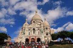 La basílica del corazón sagrado de París Fotografía de archivo libre de regalías