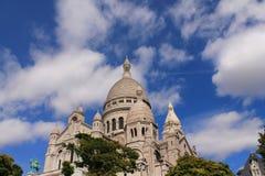 La basílica del corazón sagrado de París Foto de archivo libre de regalías