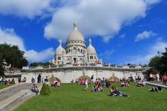 La basílica del corazón sagrado de París Imagenes de archivo