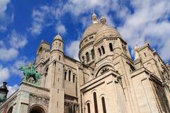 La basílica del corazón sagrado de París Fotografía de archivo
