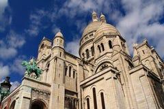 La basílica del corazón sagrado de París Foto de archivo