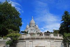 La basílica del corazón sagrado de París Fotos de archivo