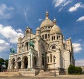 La basílica del corazón sagrado de París - Francia imagen de archivo