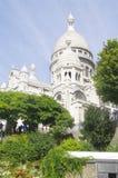 La basílica del corazón sagrado en París Foto de archivo