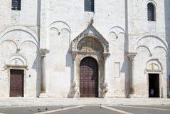 La basílica del santo Nicholas en Bari (fragmento) fotografía de archivo libre de regalías