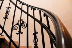 La basílica del StStephen espiral de las escaleras Budapest, Hungría Fotografía de archivo