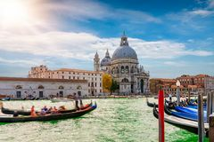 La basílica di santa Maria della Salute en Venecia foto de archivo