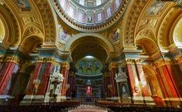 La basílica en Budapest Fotos de archivo libres de regalías