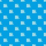 La base de datos con destornillador y la llave inglesa modelan el azul inconsútil Foto de archivo