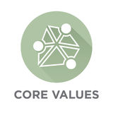 La base de la compañía valora los iconos del esquema para los sitios web o Infographics ilustración del vector