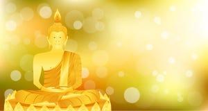 La base del loto de Buda del phra del monje que se sienta para ruega el lanzamiento compuesto concentración Fondo colorido ejempl stock de ilustración