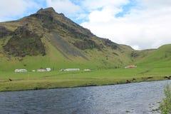 La base di un villaggio l'Islanda Fotografia Stock Libera da Diritti