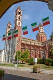 La basilica del ` Andrea di Sant a Vercelli sull'Italia fotografie stock libere da diritti
