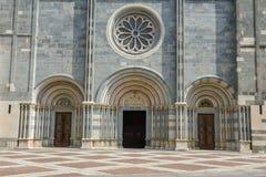 La basilica del ` Andrea di Sant a Vercelli sull'Italia fotografia stock